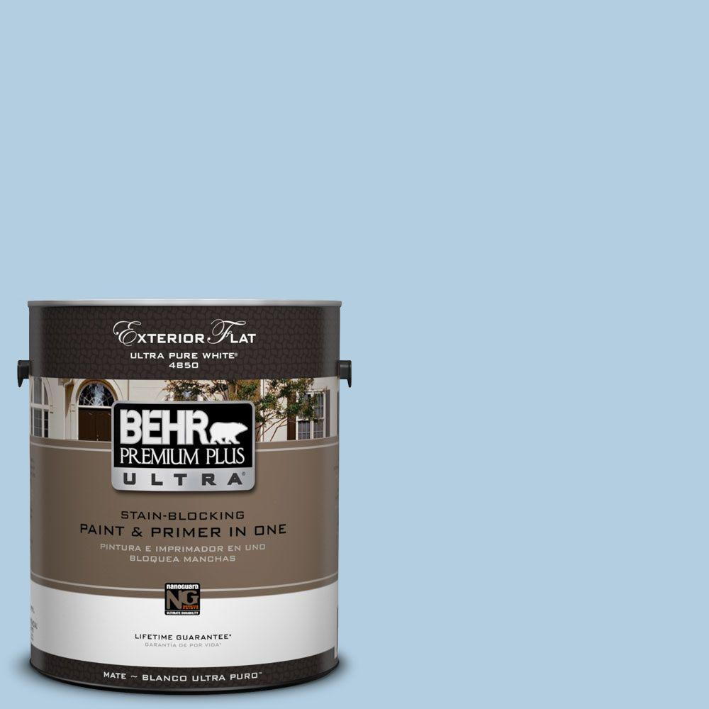 BEHR Premium Plus Ultra 1-Gal. #UL230-10 Crystal Waters Flat Exterior Paint