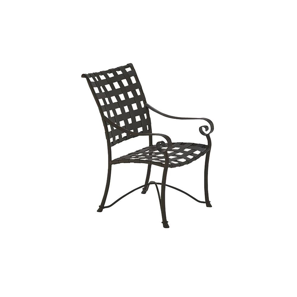 Tradewinds Vallero Crossweave Black Commercial High Back Game Patio Chair (2-Pack)