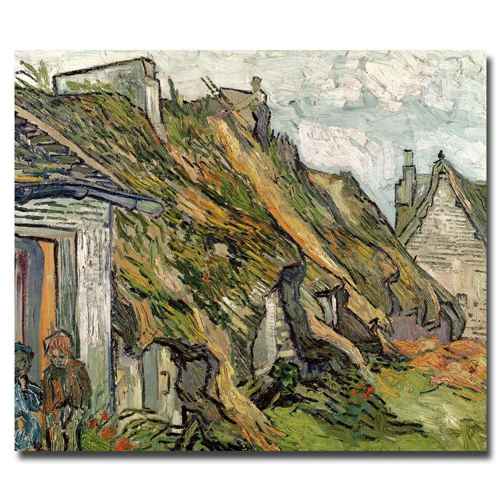 35 in. x 47 in. Cottages in Chaponval, Auvers-Sur-Oise Canvas Art
