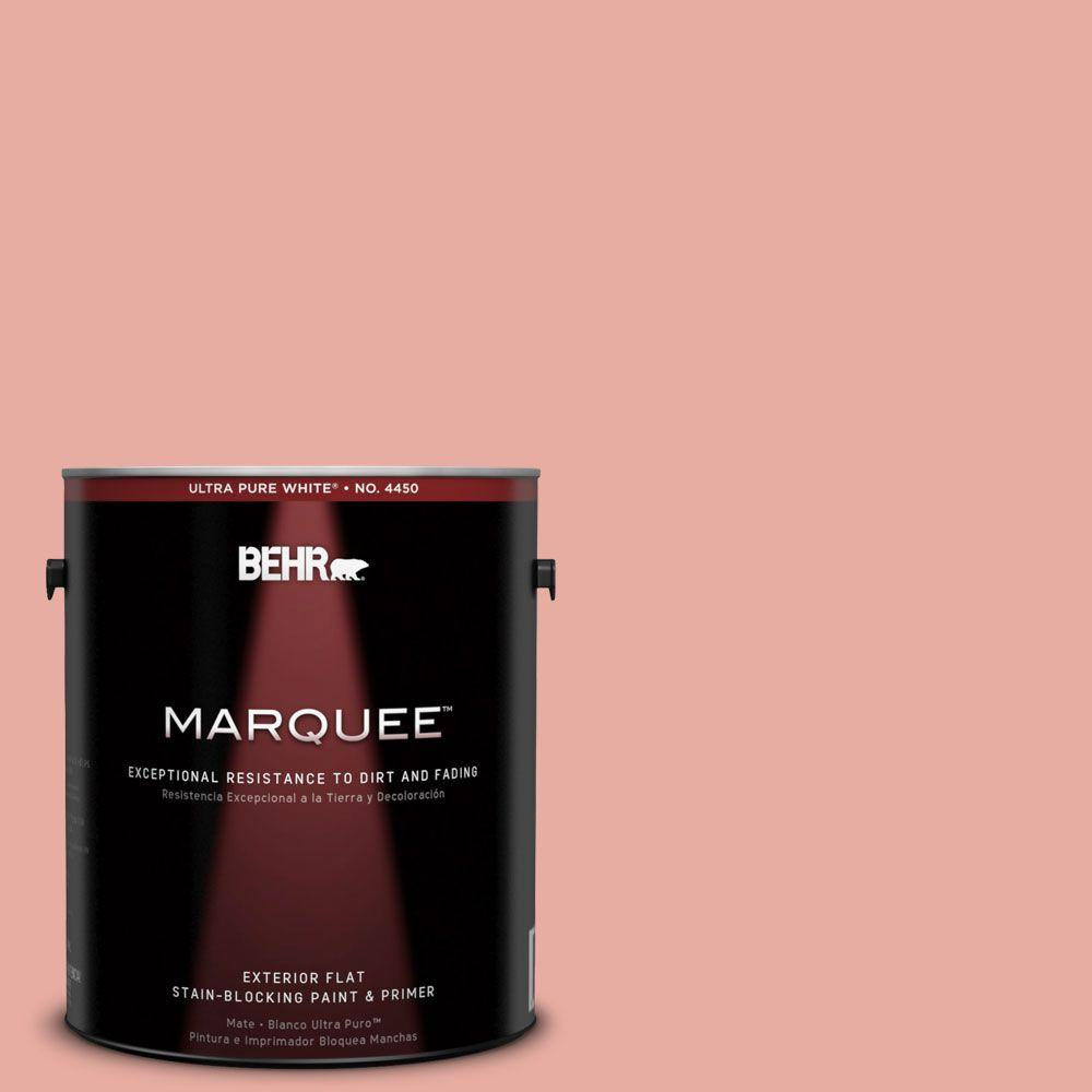 BEHR MARQUEE 1-gal. #180C-3 Rose Linen Flat Exterior Paint-445401 - The