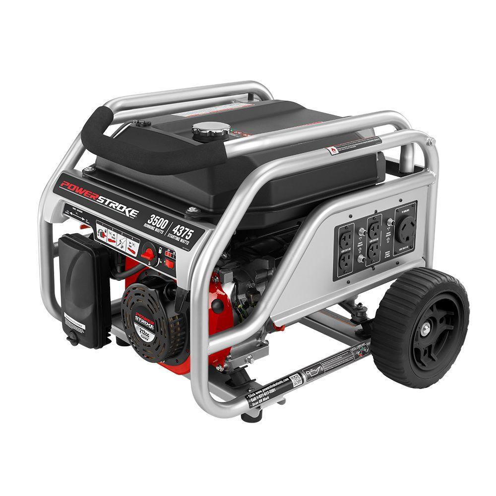 3,500-Watt 212cc Gasoline Powered Portable Generator