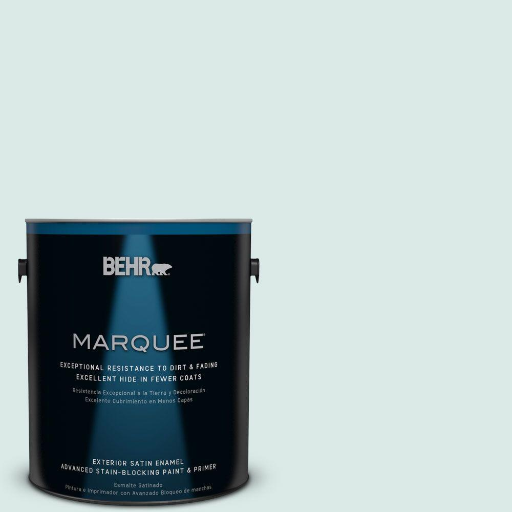 BEHR MARQUEE 1 gal. #HDC-WR15-5 Arctic Flow Satin Enamel Exterior Paint-945001