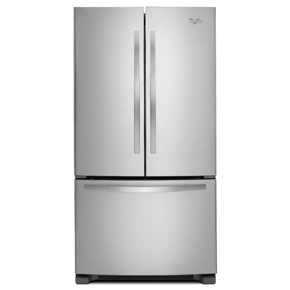 Whirlpool 33 in. W 22.1 cu. ft. French Door Refrigerator in Monochromatic Stainless Steel