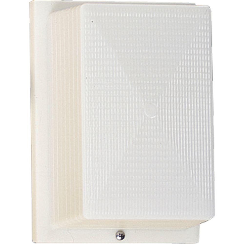 Progress Lighting Hard-Nox Outdoor White Wall Lantern-P5691-60 - The Home Depot