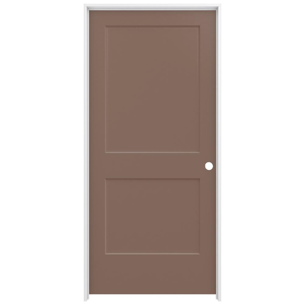 Jeld Wen 36 In X 80 In Smooth 2 Panel Medium Chocolate Solid Core Molded Composite Single