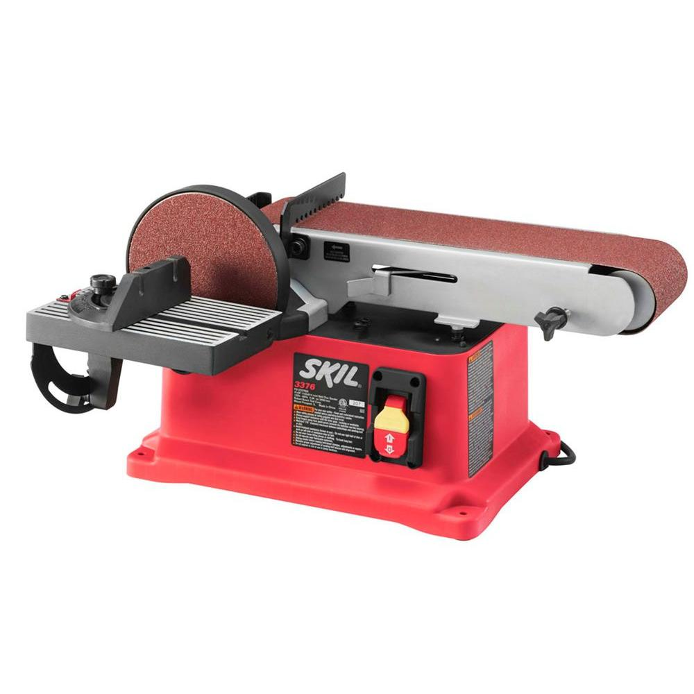 Skil 4 Amp 4 in. x 36 in. Corded Electric Belt/Disc Sander