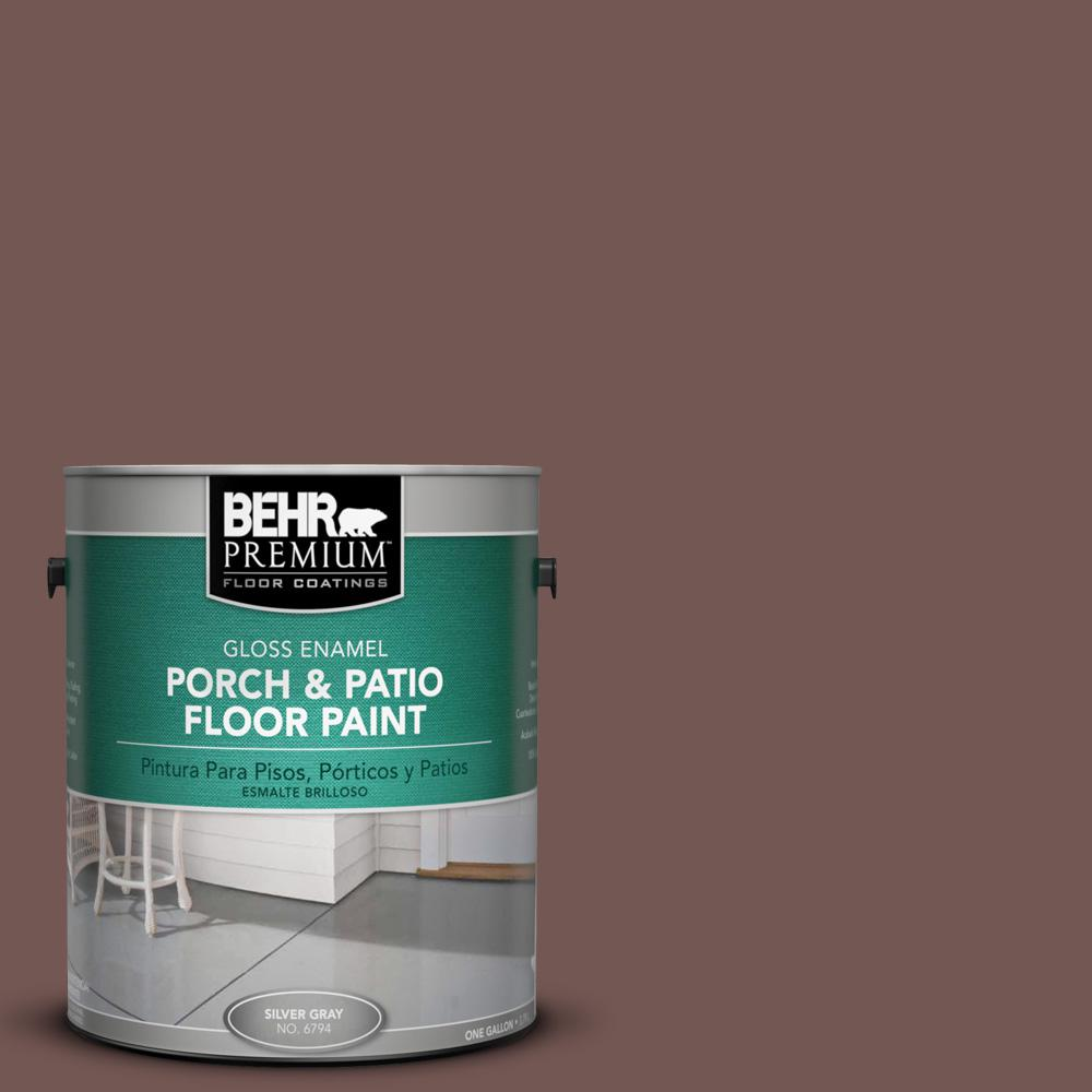 1 gal. #220F-7 Yorkshire Brown Gloss Porch and Patio Floor Paint