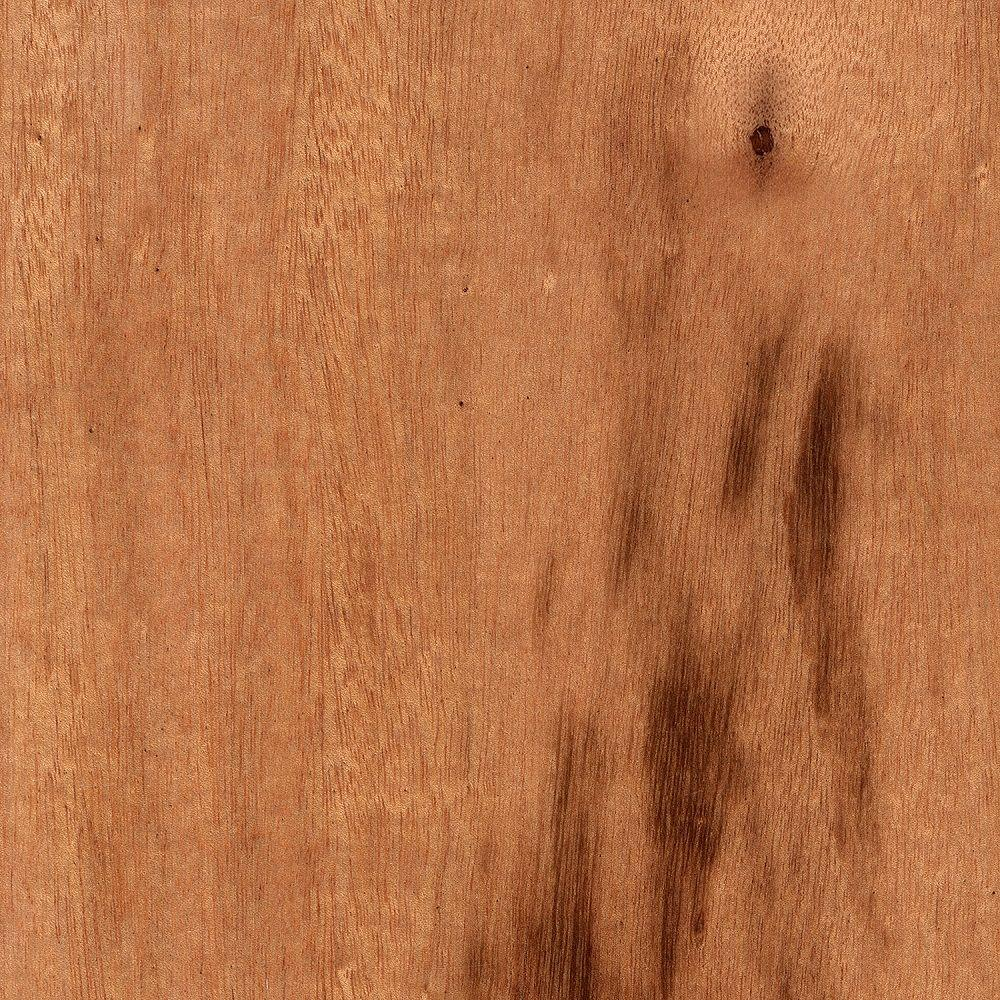 Take Home Sample - Tigerwood 3/8 in. Thick Click Lock Exotic Hardwood Flooring - 5 in. x 7 in.