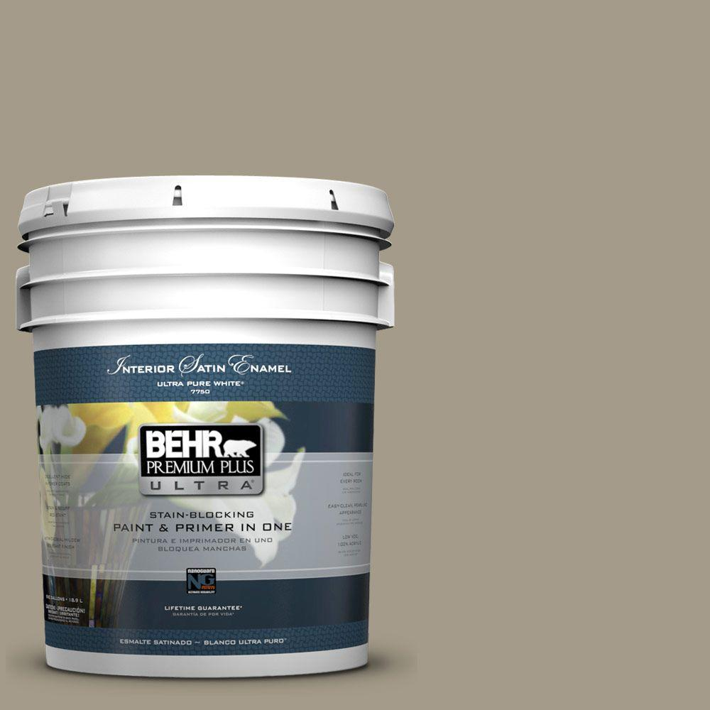 5-gal. #PMD-57 Fossil Stone Satin Enamel Interior Paint