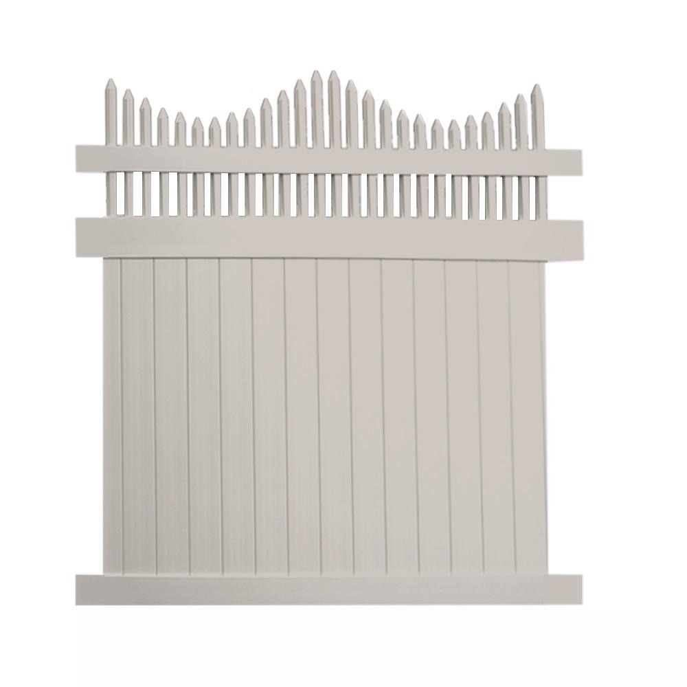 Louisville 6 ft. x 8 ft. Tan Vinyl Privacy Fence Panel
