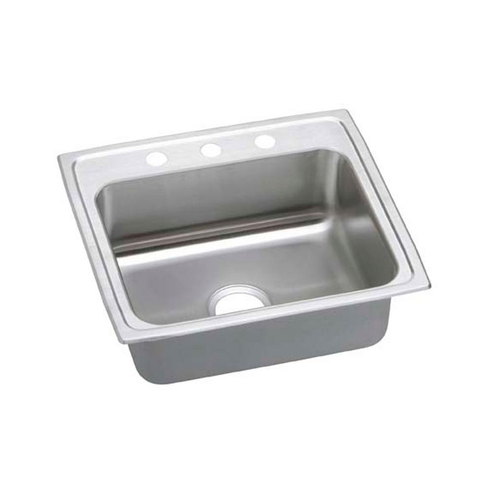 Pacemaker Drop-In Stainless Steel 22 in. 3-Hole Single Bowl Kitchen Sink