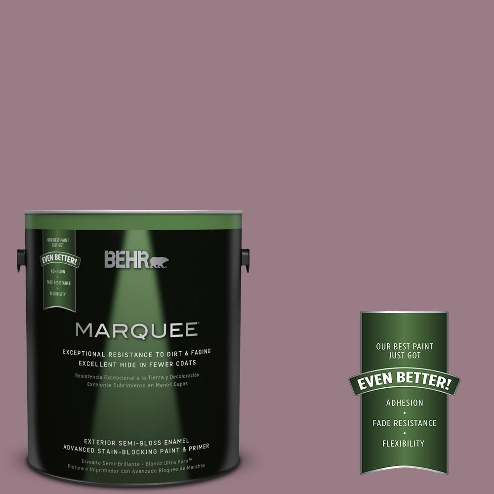 1-gal. #T15-19 Mulberry Wine Semi-Gloss Enamel Exterior Paint