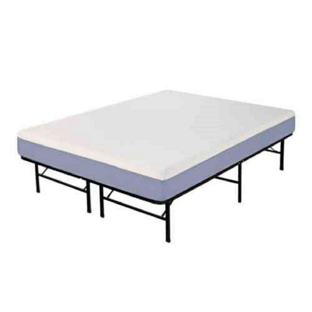 Rest Rite King-Size Memory Foam Mattress with Platform Frame