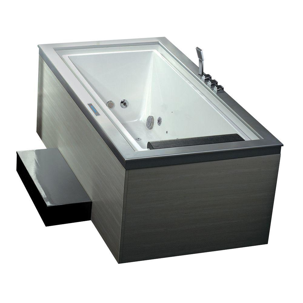 Ariel 6 ft. Whirlpool Tub in White