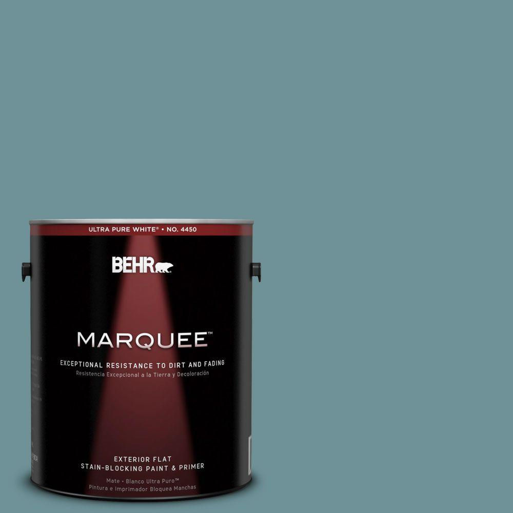 BEHR MARQUEE 1-gal. #510F-5 Bayside Flat Exterior Paint-445401 - The Home