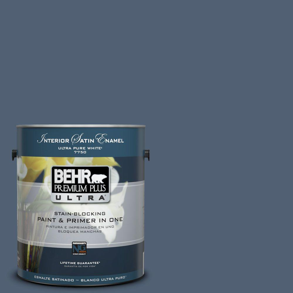 BEHR Premium Plus Ultra 1-Gal. #PPU14-19 English Channel Satin Enamel Interior Paint