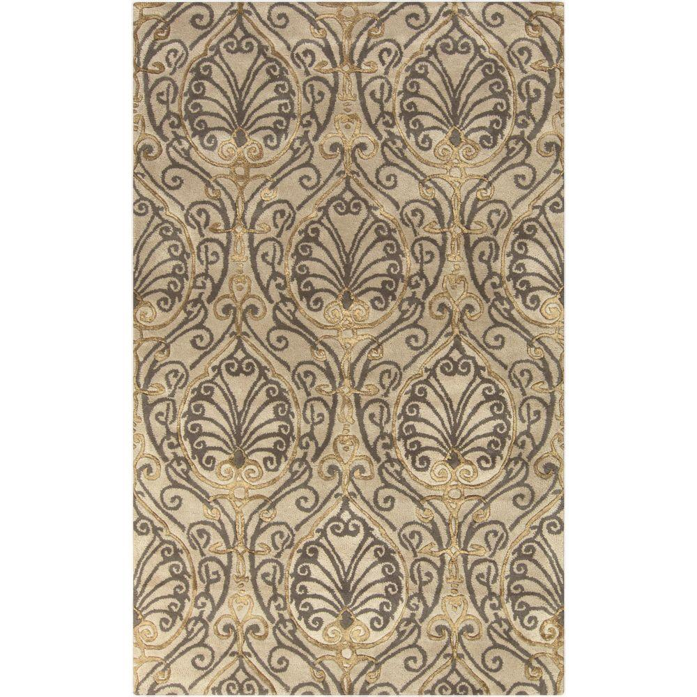 Del Frisco Taupe (Brown) 3 ft. 3 in. x 5 ft. 3 in. Indoor Area Rug