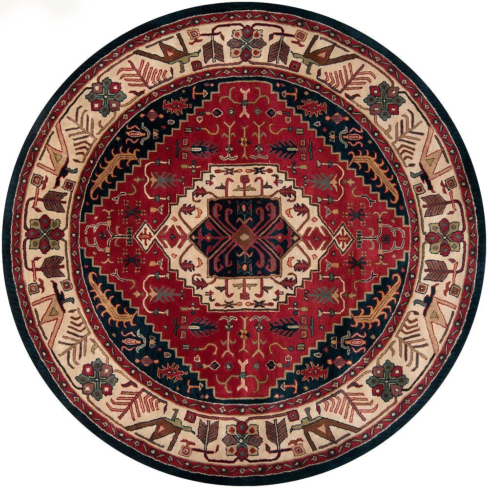 Artistic Weavers Antrim Beige 8 ft. Round Area Rug-Auburn-8RD - The