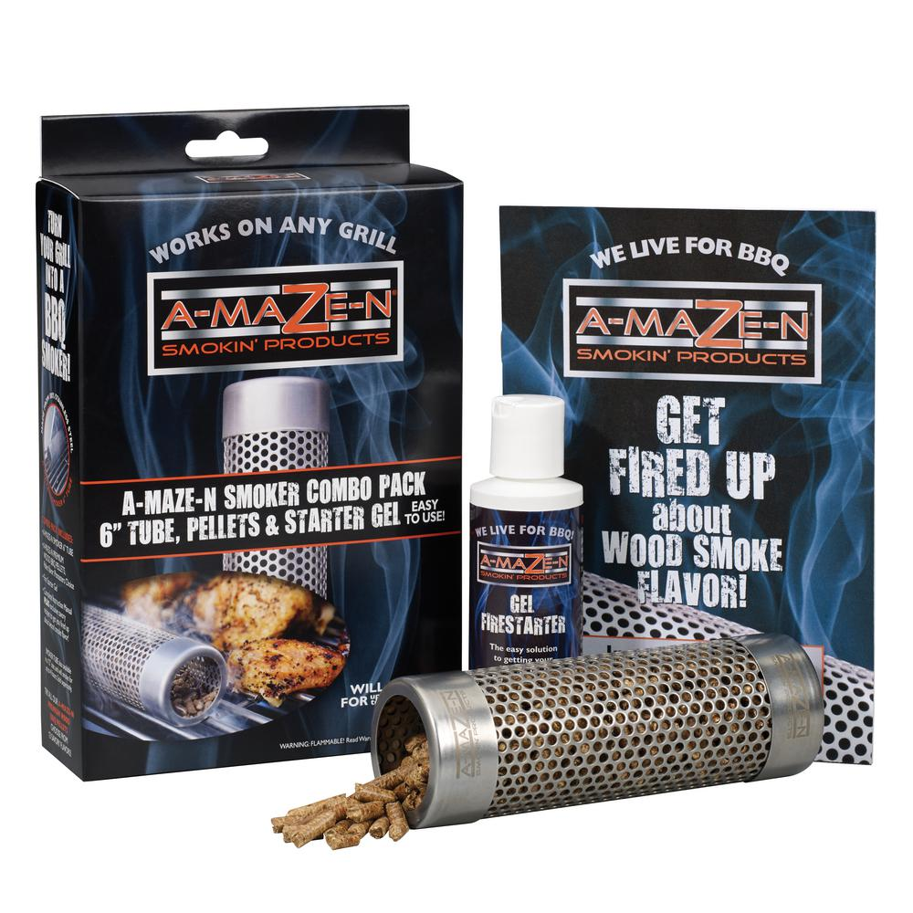 Smoker Combo Pack 6 in. Tube, Pitmasters Choice Pellets and Starter