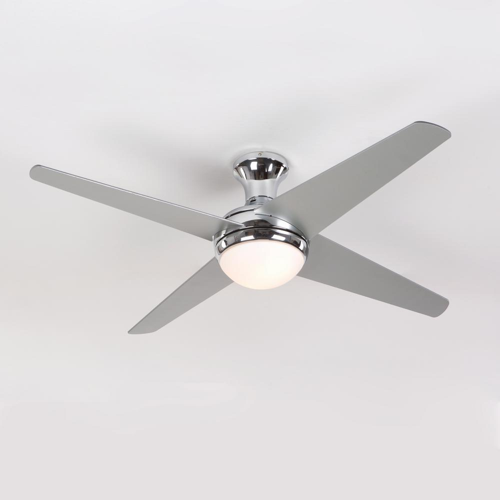 Yosemite Home Decor 52 In Chrome Ceiling Fan With 16 In