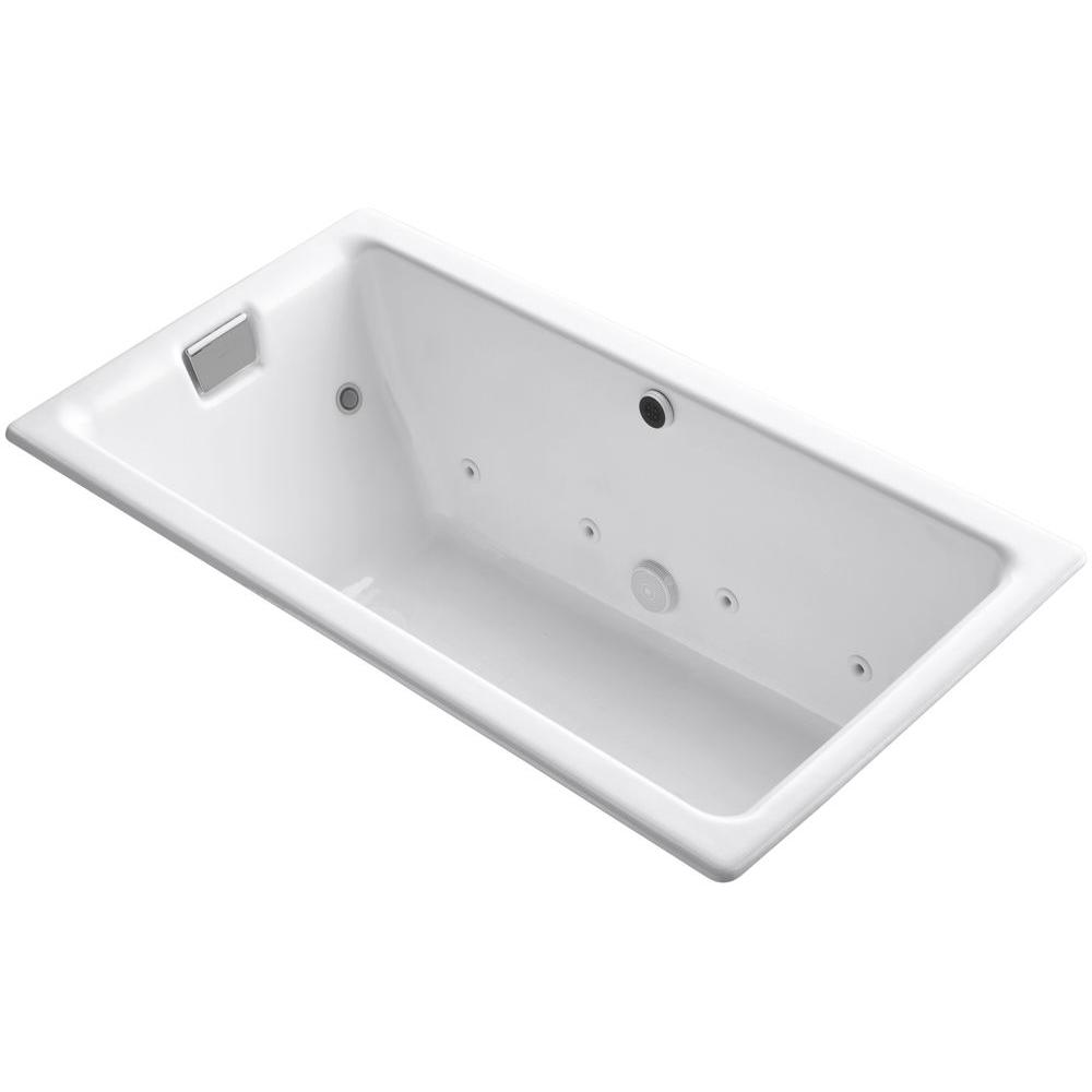 KOHLER Tea-for-Two 5.5 ft. Effervescence Walk-In Whirlpool and Air Bath Tub