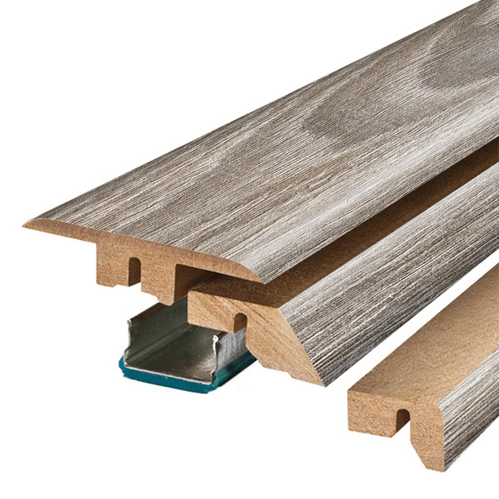 Pergo Heron Oak 3/4 in. Thick x 2-1/8 in. Wide x 78-3/4 in. Length Laminate 4-in-1 Molding, Light