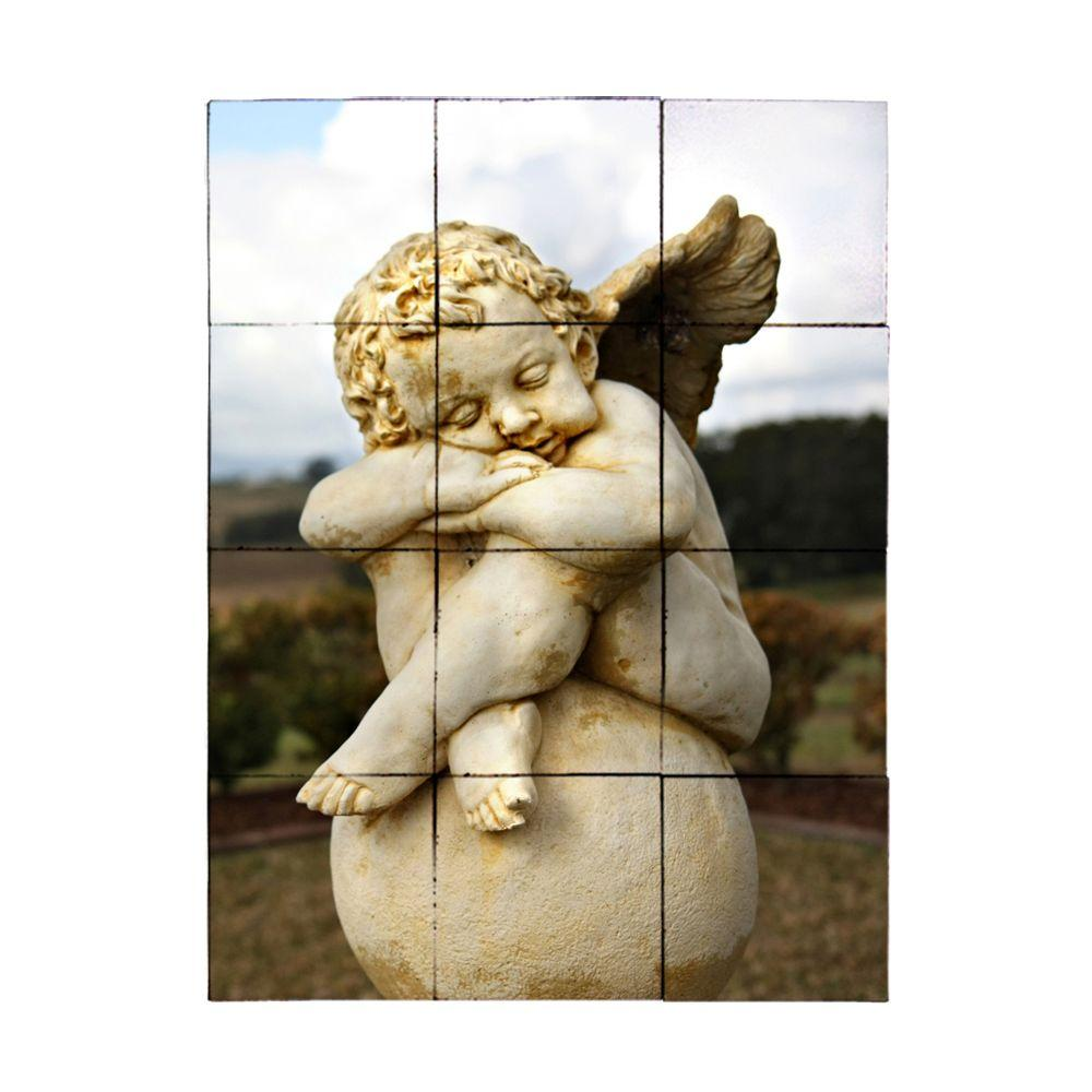 Tile My Style Angel2 18 in. x 24 in. Tumbled Marble Tiles (3 sq. ft. /case)