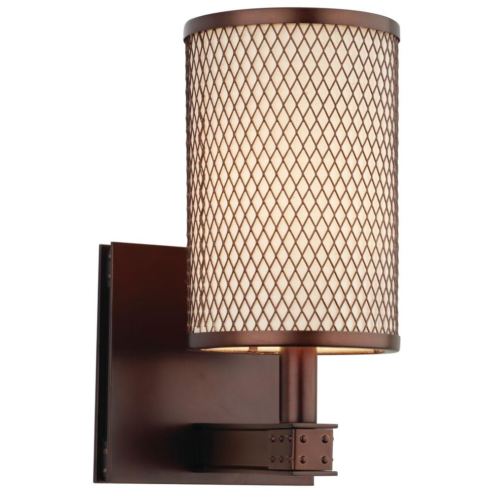 Philips Forecast I Beam 1-Light Merlot Bronze Wall Sconce-DISCONTINUED