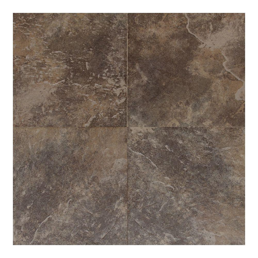 Daltile Continental Slate Moroccan Brown 18 in. x 18 in. Porcelain Floor and Wall Tile (18 sq. ft. / case)