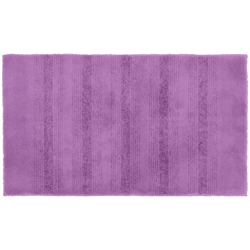 Garland rug essence purple 24 in x 40 in washable for Rugs with purple accents