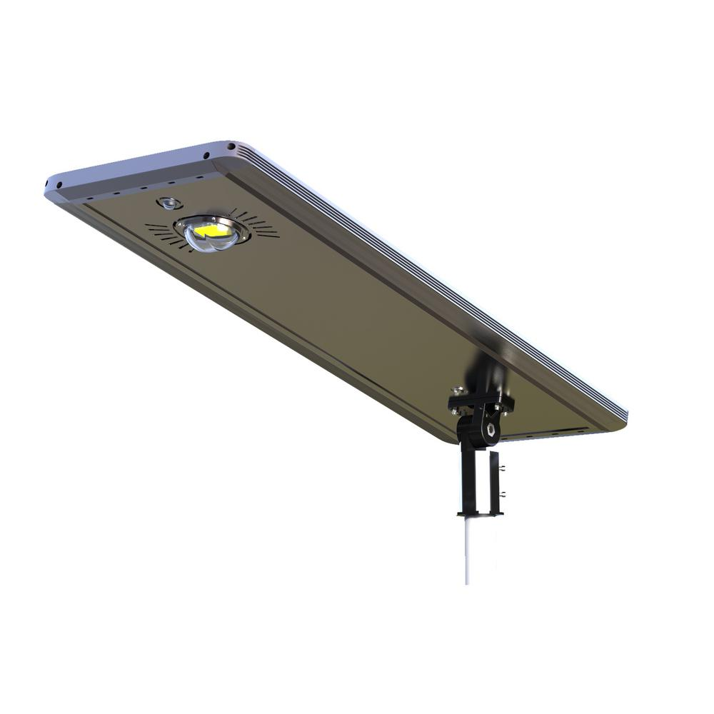30-Watt Gray Solar Ultra Powerful Motion Activated Outdoor Integrated LED Path