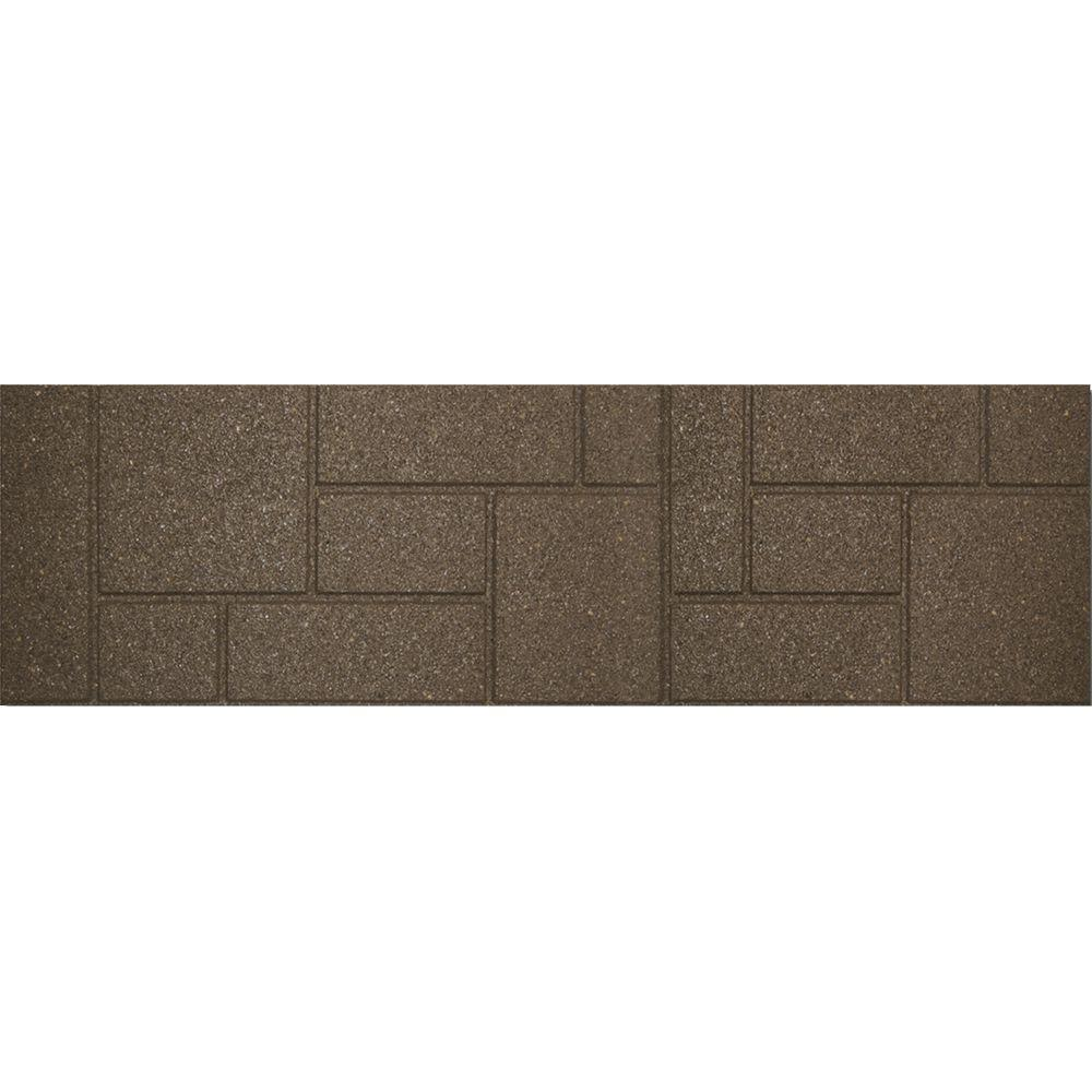 Envirotile 10 in. x 36 in. Rectangular Rubber Cobblestone Earth Stair Tread