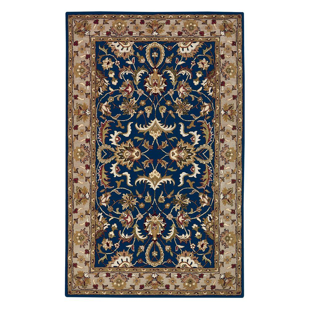 Home Decorators Collection Constantine Midnight Blue and Beige 2 ft. x 3 ft. Accent Rug
