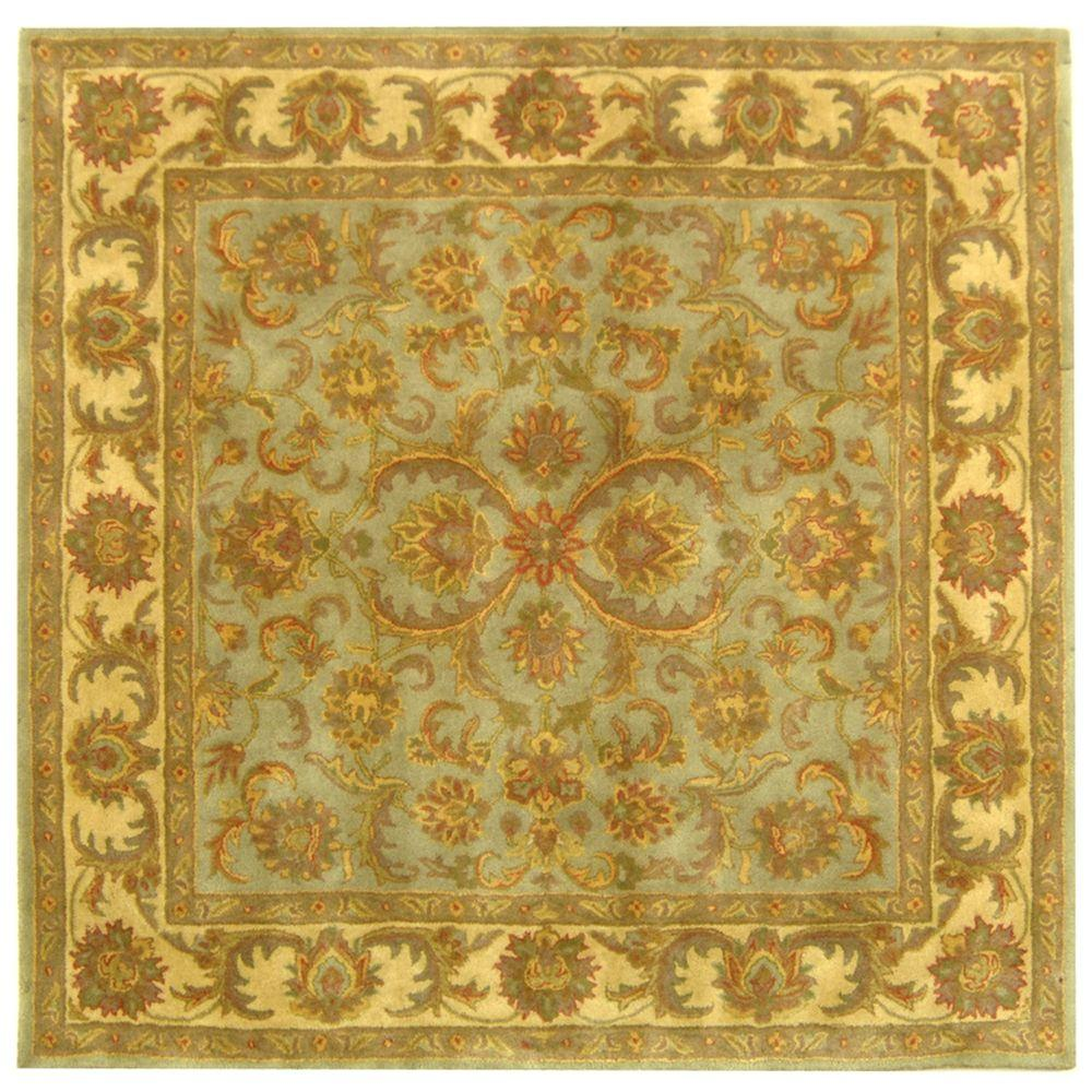 Heritage Green/Gold 6 ft. x 6 ft. Square Area Rug