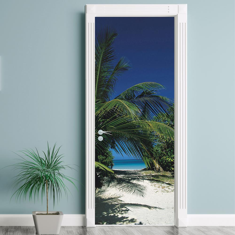 87 in. x 38 in. Way to the Beach Wall Mural