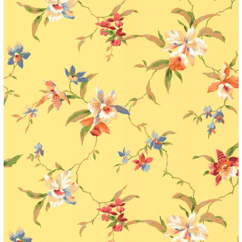 York Wallcoverings Orchid Wallpaper