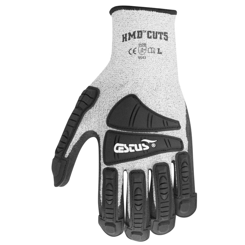 Large Gray HMD Cut5 Gloves