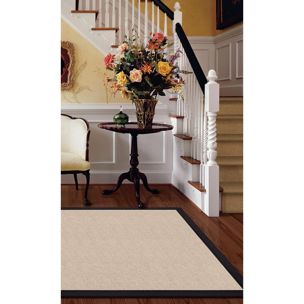 Athena Natural and Black 5 ft. x 8 ft. Area Rug