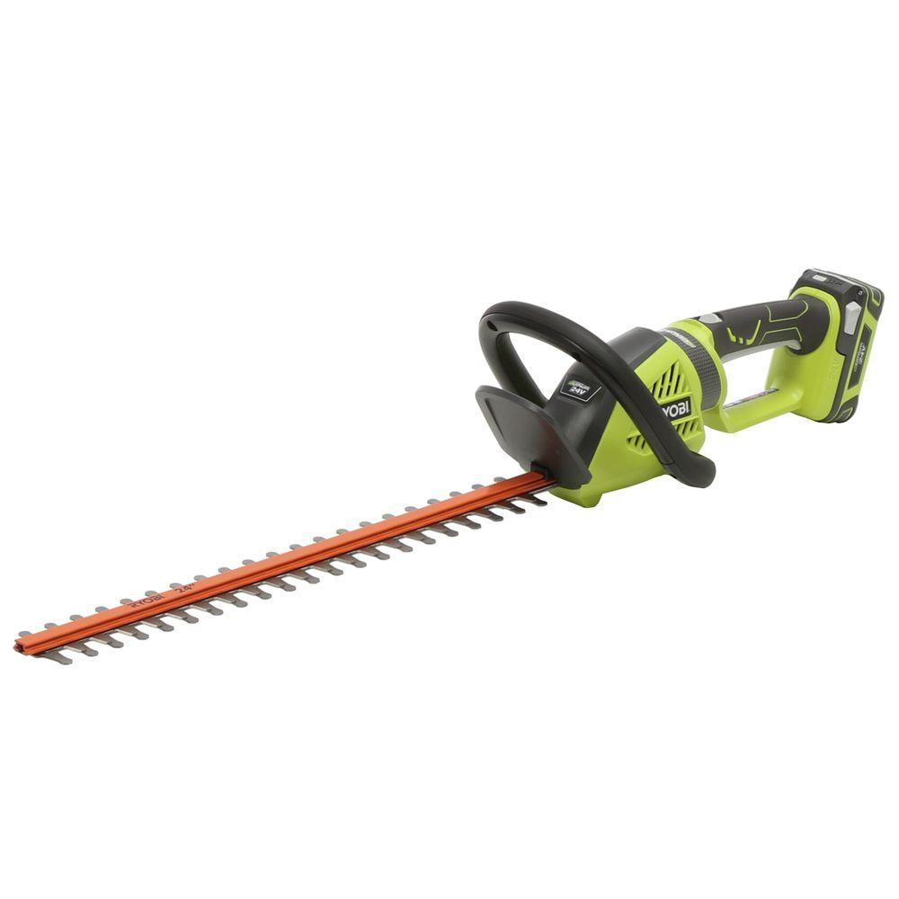 Ryobi 24 in. 24-Volt Lithium-Ion Cordless Hedge Trimmer
