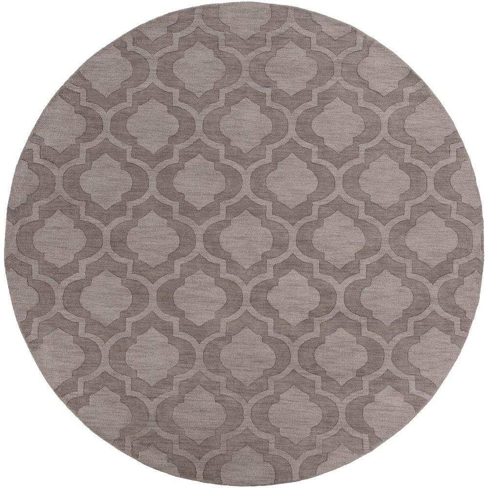 Modern Indoor/Outdoor Area Rug: Artistic Weavers Rugs Central Park Kate Gray 9 ft. 9 in. x 9 ft. 9 in. Round Indoor AWHP4009-99RD
