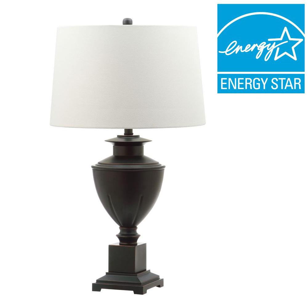 Kirby 31.25 in. Brown Table Lamp