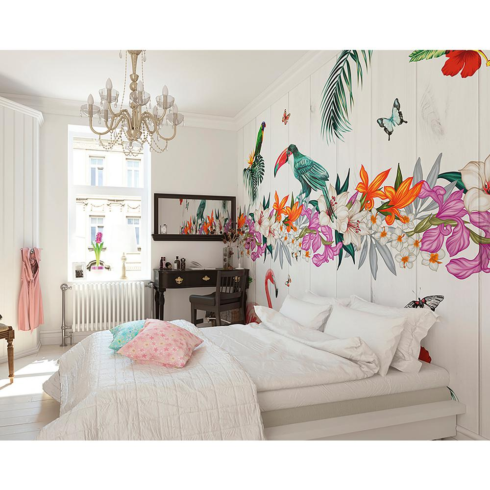 Wall murals wall decals murals wall decor decor for Birds of paradise mural
