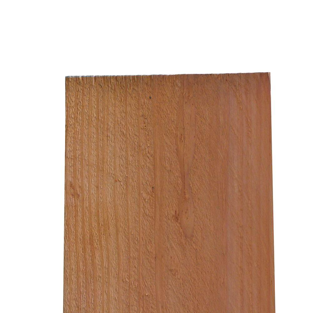 11/16 in. x 7-1/2 in. x 5 ft. Construction Heart Redwood