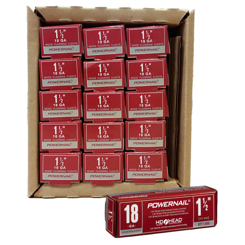 Powercleats 1-1/2 in. 18-Gauge Hardwood Flooring Nails 15 Boxes of 1,000