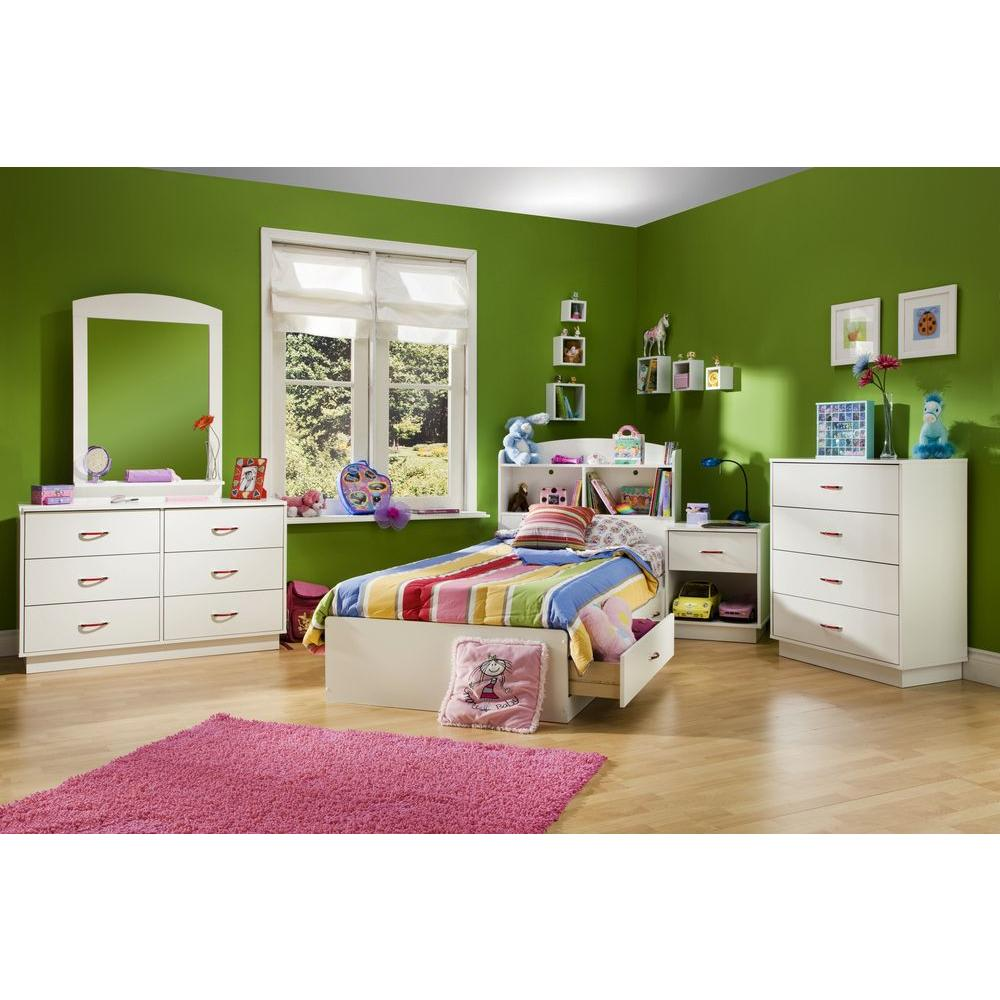 South Shore Clever Twin Kids Storage Bed