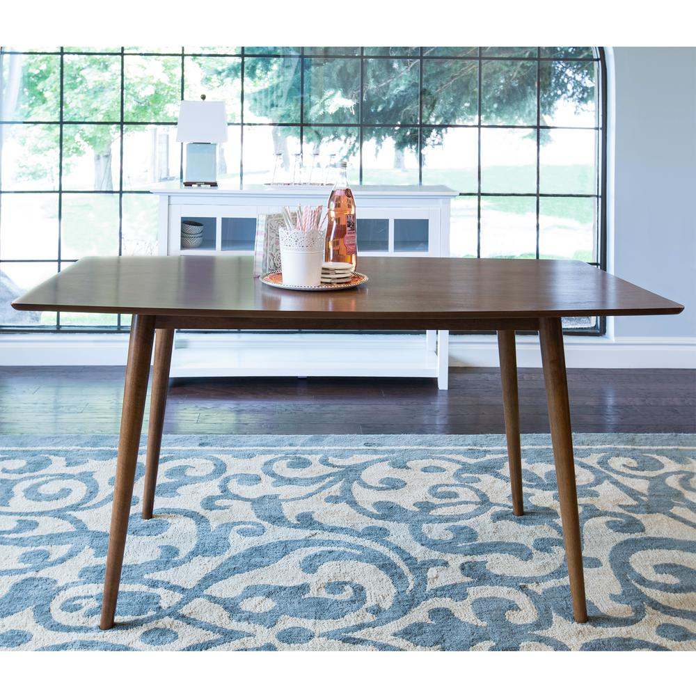Walker Edison Furniture Company Mid Century Acorn Dining Table Hdw60mcac The Home Depot