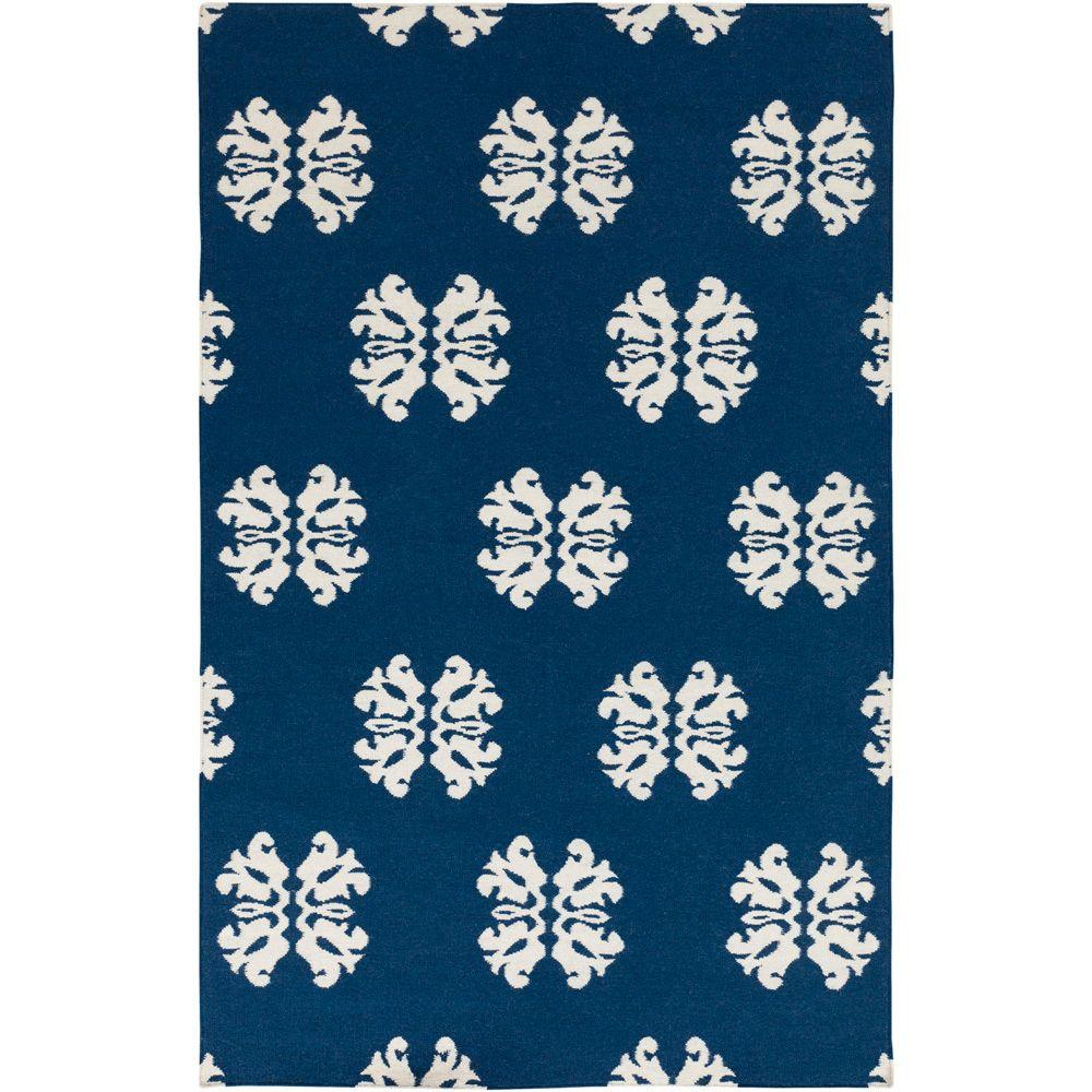 Artistic Weavers Ospino Mediterranean Blue 3 ft. 6 in. x 5 ft. 6 in. Flatweave Area Rug