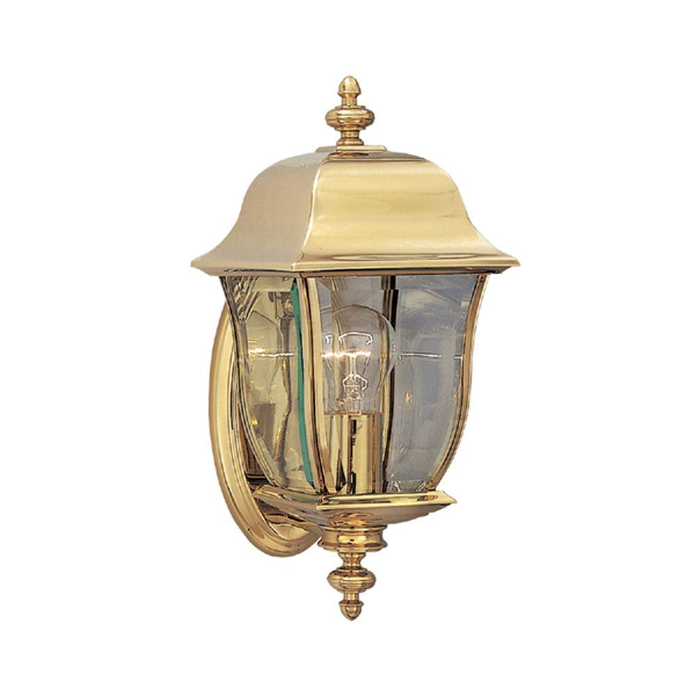Oak Harbor Polished Brass Outdoor Wall-Mount Lantern
