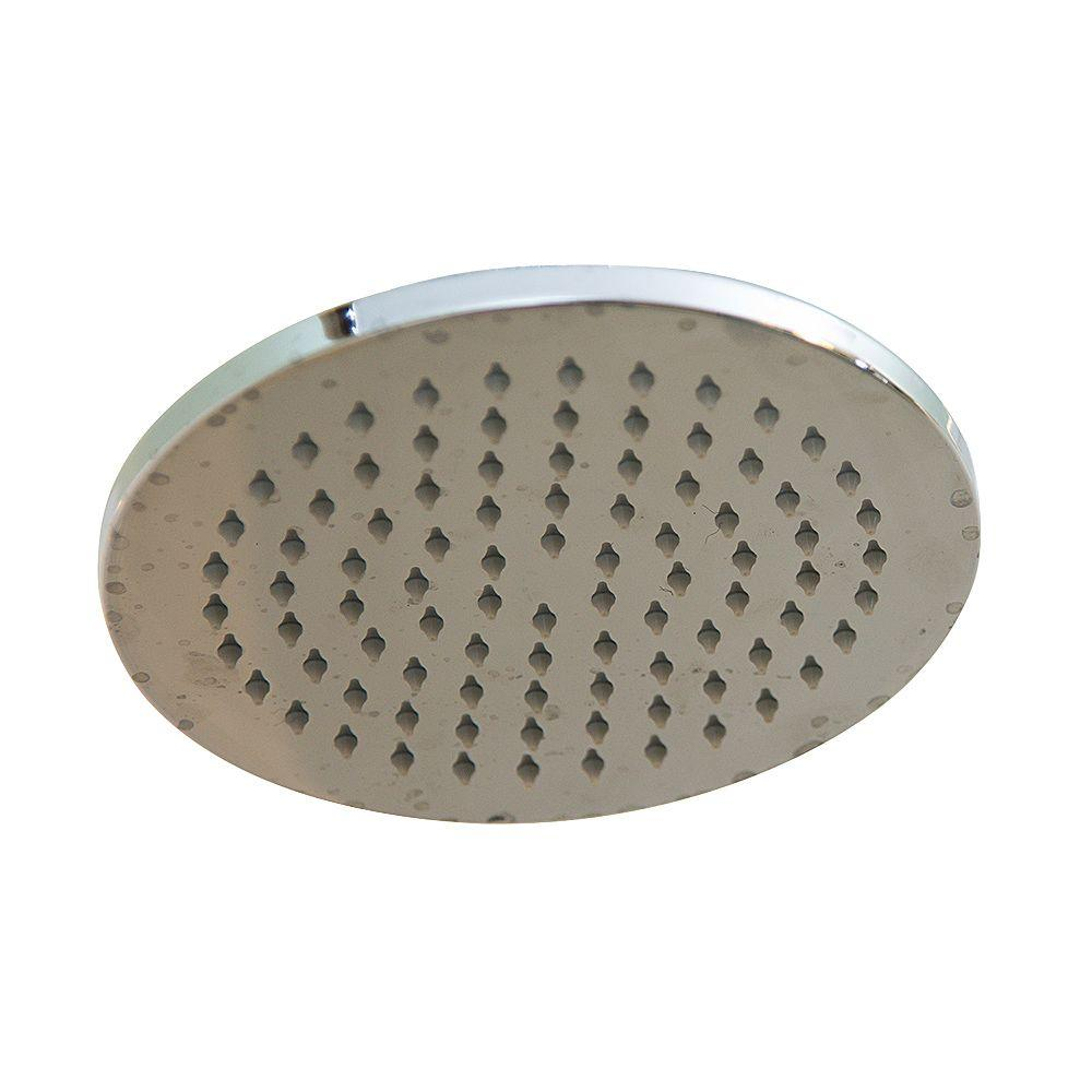 null 1-Spray 8 in. Filtered Showerhead in Chrome