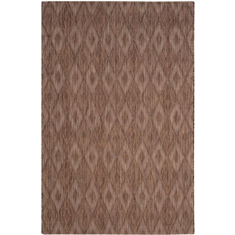 Courtyard Brown 6 ft. 7 in. x 9 ft. 6 in.